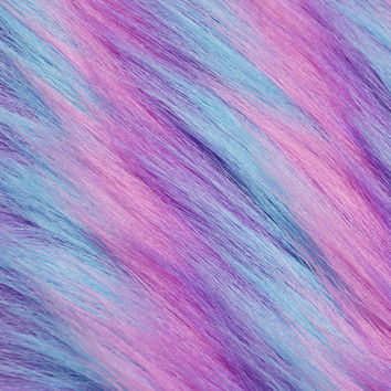 Fashion Faux Fur Fabric-Blue Purple Pink - JoAnn | Jo-Ann