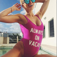 Always On Vacay One Piece