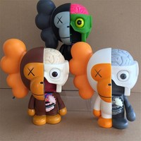 8 Inch Originalfake KAWS BAPE Action Figure Collectible Model