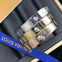 Louis Vuitton LV Nanogram Cuff Bracelet In Women's Accessories Fashion Jewellery 3 Colors - Best Online Sale
