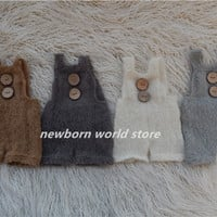 newborn photography props rompers,mohair rompers.