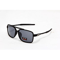 Tagre NEW OAKLEY CROSSHAIR AVIATOR SUNGLASSES OO4060-03 MATTE BLACK / BLACK IRIDIUM