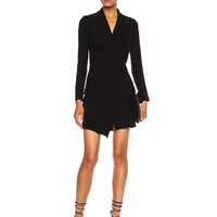 Tux Poly-Blend Dress in Black