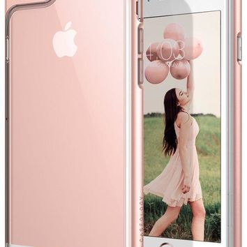 VONEXO9 Caseology Skyfall Series iPhone 6S Plus Cover Case with Clear Slim Protective for Apple iPhone 6S Plus (2015) / iPhone 6 Plus (2014) - Rose Gold