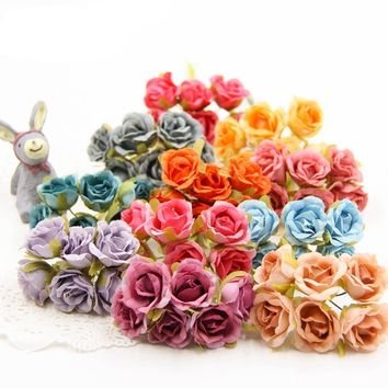 Decorative Artificial Mini Rose Flower Bouquet Craft