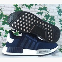 ADIDAS NMD Fashion Casual Running Sport Casual Shoes Sneakers Navy