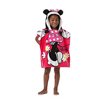 "Disney Minnie Mouse 22"" x 22"" Hooded Poncho Bath/Beach Towel"