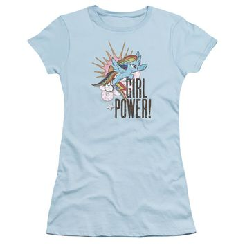 My Little Pony Juniors T-Shirt Girl Power Light Blue Tee