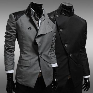 Casual Blazer Men Slim Suits Jacket [6528920515]