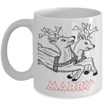 Rudolph The Red Nose Reindeer Personalized Name Mug Coloring - Christmas 2016 Coloring Mugs for Kid with Color Pencils for Kids - Best X-Mas Kids Gift - 11OZ Cocoa Mug - Holidays, Birthday, Boys, Girls Cup - Cute Fairy Tale Gifts