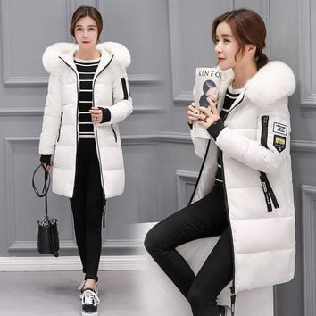 Winter jacket women new female parka coat feminina long down jacket plus size long hooded duck down coat jacket Women