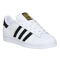 Adidas Superstar GS White Black Foundation - Hers trainers