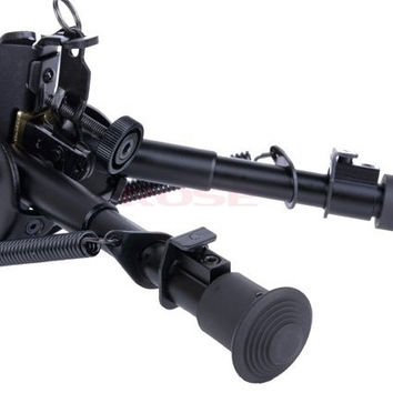 6'' Adjustable Spring Return Bipod For Hunting Shot-Sling Swivel Mount SV002903|26601 (Color: Black) = 1745596548