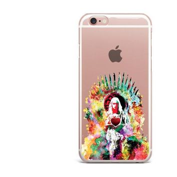Clear Game Of Thrones Phone Case For iPhone 6 6S 7 7Plus 5 5s SE 8 8Plus I AM NOT A PRINCESS I'M A KHALEESI Soft For iPhone X