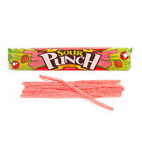 Sour Punch Straws 2-Ounce Packs - Strawberry: 24-Piece Box