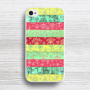 Lily & Lotus Layers in Mint Green, Coral & Buttercup Yellow case iPhone 4s 5s 5c 6s 6 Plus Cases, Samsung Case, iPod 4 5 6 case, HTC case, Sony Xperia case, LG case, Nexus case, iPad case