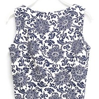 Vintage-Inspired Cropped Top