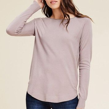 Nothing But Warmth Sweater - Dark Blush