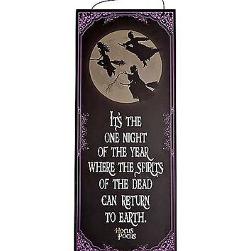 Spirits of the Dead Wooden Sign - Hocus Pocus - Spirithalloween.com