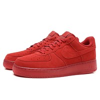 Nike Air Force 1 07 LV8 AF1 Red For Women Men Running Sport Casual Shoes Sneakers