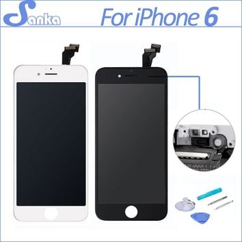 SANKA AAA For iPhone 6 Screen LCD Touchscreen Display Digitizer Assembly Replacement Ecran Pantalla LCD Mobile Phone Parts Tools