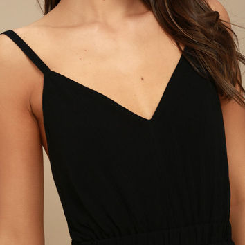 Here's to the Good Times Black Skater Dress