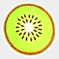 Lime Kiwi Round beach terry towel Cotton Beach Towel with Tassel Trim Beach blanket / Beach towel / Wrap / Rug