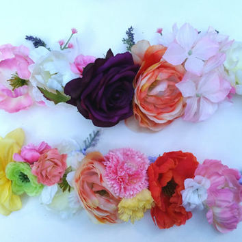 Customized Flower Crown Headband * You Pick the Colors * Made to Order