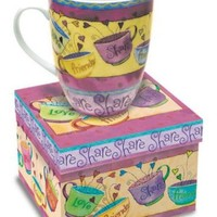 Love Friends Share Gift Boxed 12 Oz Coffee Mug Friendship Gift