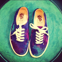 Authentic Classic Vans Custom made Galaxy Shoes