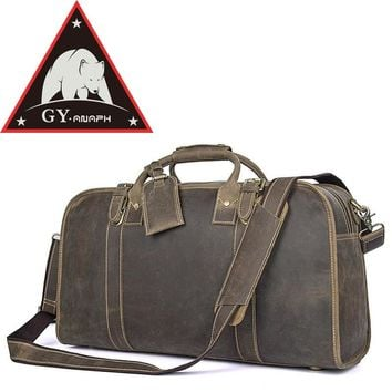 """ANAPH Holdall, Weekender Leather Aairplane Duffle Travel Bags For Suits, Carry On Luggage, Underseater Cabin Bag, Fit 17"""" Laptop"""
