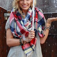 Seattle Plaid Scarf