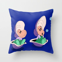 Oysters Throw Pillow by Jaclyn Celeste