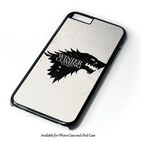 Game Of Thrones Stark - Winter Is Coming Design for iPhone and iPod Touch Case