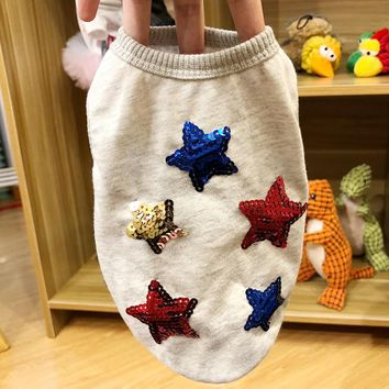 Soft Star Bling Polyester Dog Shirt