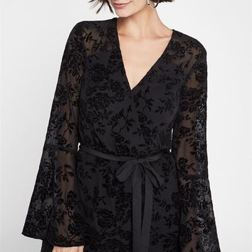 Women's BCBGeneration Bell Sleeved Lace Romper