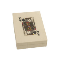Bone Playing Cards Box