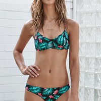Young & Reckless Ursula Paradise Tropical Print Underwire Bikini Top at PacSun.com
