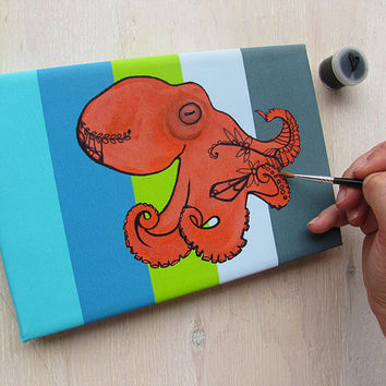 Octopus DIY Tangle Painting Kit