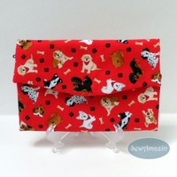 Dog Lovers Tri-fold Wallet, Fabric Clutch