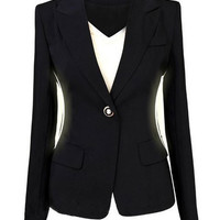 Black Long Sleeve Blazer Suit