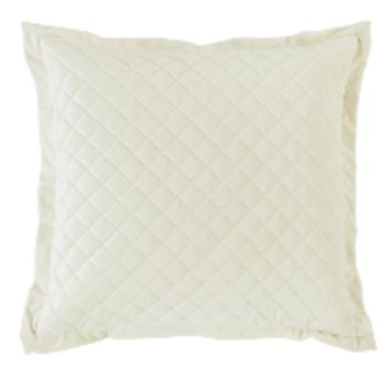 Cowgirl Kim Luxurious Quilted Cream Euro Shams~ Shams Only