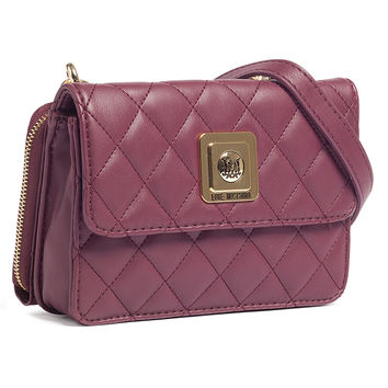 Moschino Plum Crossbody/Wallet-on-a-Chain Bag