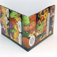Comic Book Wallet// JLI// Power Girl, Guy Gardner, Blue Beetle (Ted Kord), and Booster Gold