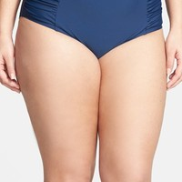 Plus Size Women's Jessica Simpson High Waist Bikini Bottoms