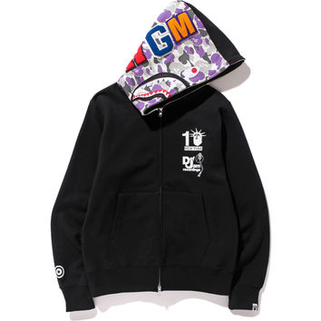 DEF JAM RECORDINGS BAPE STORE NYC 10th SHARK FULL ZIP HOODIE