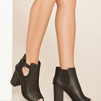 Buckle Cutout Booties