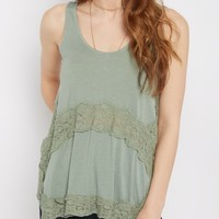 Olive Daisy Lace Swing Tank | Going Out Tank Tops | rue21