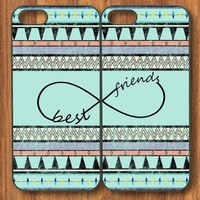 Tribal Infinity Sign Best Friends Snap On Case Set for Apple iPhone 4 4s +NFL Micro LED Keychain Light