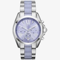 Bradshaw Silver-Tone and Acetate Watch | Michael Kors